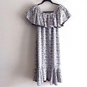 Lularoe Cici women's black and white dress -small